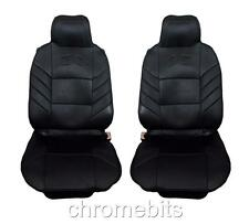 UNIVERSAL FRONT BLACK COMFORT PADDED SEAT COVERS 1+1 CAR VAN BUS TAXI MOTORHOME