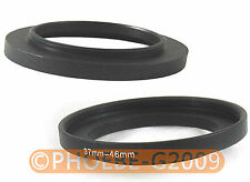 37mm to 46mm 37-46 mm Step Up Filter Ring  Adapter