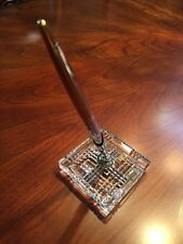 """Waterford crystal pen holder in fine Irish crystal 3 1/4""""square hand cut In Box"""