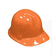 6 Pack Kid's Plastic Construction Hard Hat Party Costume Accessories ORANGE