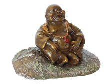 Pot Belly Buddha Statue Aquarium Thai Ornament Oriental Fish Tank Decoration