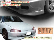 TR-Style Front Lip (Urethane) Fits 92-95 Civic 3dr