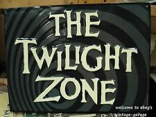 *EMBOSSED METAL SIGN* _ THE TWILIGHT ZONE__ rod serling (SHIPS WORLDWIDE))