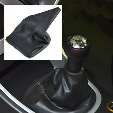 FOR 2001-2008 PEUGEOT 307 BLACK STITCH PU LEATHER GEAR STICK KNOB COVER GAITER