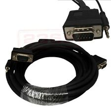 50ft Super VGA HD15 M/M Cable w/ Stereo Audio and Triple Shielding