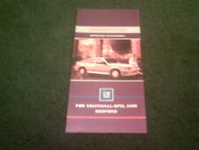 1986 GMS BODYSTYLERS Vauxhall Nova Astra Cavalier UK SMALL BROCHURE Dealer Stamp