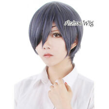 Black Butler Ciel Phantomhive Blue Mixed Gray Short 30CM Anime Cosplay Wig