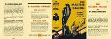 Hammett THE MALTESE FALCON facsimile dust jacket for first & early edns.