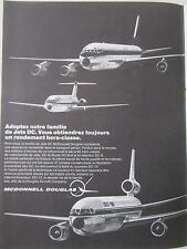 2/1970 PUB MCDONNELL DOUGLAS DC-8 DC-9 DC-10 AIRLINER ORIGINAL FRENCH AD
