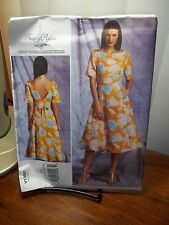 Tracy Reese for Vogue Ladies Dress Pattern 1397 Uncut, Sizes 6-8-10-12-14