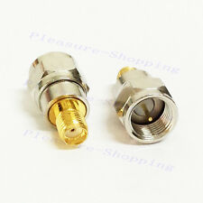SMA female jack To F male plug RF Coaxial Adapter connector Straight NEW HOT