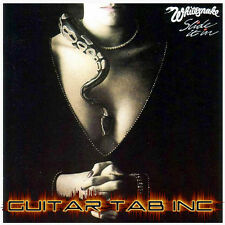 Whitesnake Guitar & Bass Tab SLIDE IT IN Lessons on Disc Drum Tablature