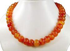 Wunderschöne Edelsteinkette aus orangefarbenem Achat in Radform