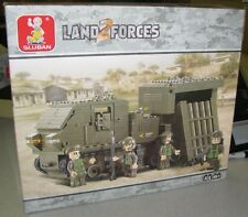 Sluban Building Blocks Land Forces 2 Guard Bazooka 314 PC Set New