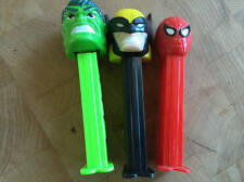 Wolverine Spiderman Hulk PEZ Candy Containers 1990's Set 3 VG Condition
