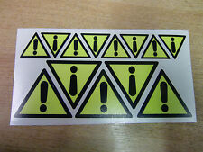 Etiquetas De Seguridad-danger/warning símbolo-decals/stickers x13