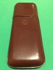 WATERMAN ORIGINAL 3 PEN BROWN LEATHER PEN CASE IN CIGAR STYLE CASE VERY HIGH END