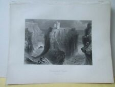 Vintage Print,DUNSEVERICK CASTLE,Scenery of Ireland,Bartlett