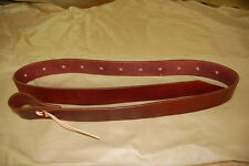 """RIDERS CHOICE LEATHER TIE STRAP 72"""" BROWN FREE SHIP MADE IN OUR SHOP ALABAMA NEW"""