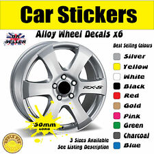 Mazda RX8 Alloy Wheel Stickers Decals 50mm x6 Free UK Postage