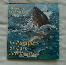 IN PURSUIT OF CARP & CATFISH FISHING BOOK BY KEVIN MADDOCKS 1986 1ST EDITION