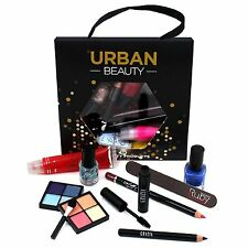 Urban Beauty 10 Piece Make Up Set Bag Bundle Nail Polish Eye Shadow Mascara