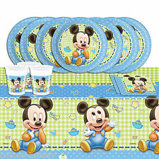 Classic Disney's Baby Mickey Mouse Child's Birthday Complete Party Pack For 16