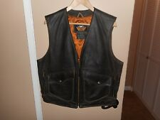 Vintage Men's Harley-Davidson Billings Brown Leather Vest Large Rare 98248-94VM