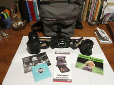 Vintage Canon T80 Camera,  Tamarac Case ,And Two ZOOM Lenses and Flash