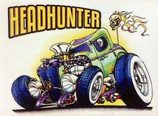 RAT ROD HOT ROD CHOPPER  BOBBER  TATTOO  DECAL STICKER   HEADHUNTER