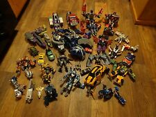 BIG PARTS LOT OF TRANSFORMERS FIGURES AND PIECES (LOOK)