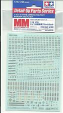Tamiya 1/16 to 1/35 German WWII Military Rank and Insignia Decals 12625 ST