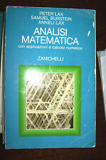 ANALISI MATEMATICA applicaz. e calcolo numerico Lax - Burstein Zanichelli 1986