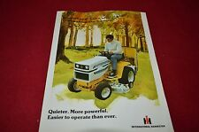 International Harvester Cub Cadet Lawn Garden Tractor 1975 Dealer Brochure TEIN