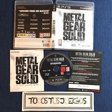 Metal Gear Solid The Legacy Collection INCOMPLETO LEER Playstation 3 BUEN ESTADO