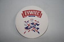 NEW Zywiec Plaque Round Coaster Polish Beer Lager Memorabilia Breweriana 4 pcs