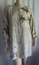 Y7 Stunning Asian Characters Bamboo Long Tunic Top BIg Shirt B:50 1X 2X