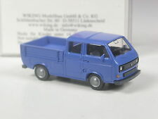 TOP: Wiking VW T3 Doppelkabine blau in OVP