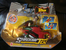 MATTEL THE BATMAN SHADOW TEK 2 IN 1 MOTO HAWK + ROBIN FIGURE K5769 BNIB RARE UK