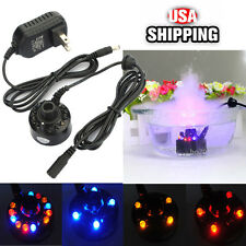12 LED Ultrasonic Mist Maker Light Fogger Water Fountain Pond +24V Power Supply