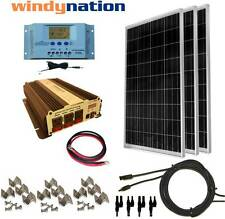 COMPLETE KIT 300 W Watt 300W Solar Panel + 1500W Inverter 12V RV Boat Off Grid