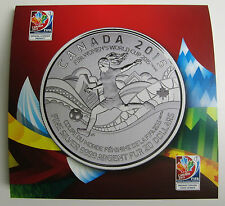 CANADA 2015-FIFA WOMEN'S WORLD CUP- $20 For $20 - 0.9999 Pure Fine Silver Coin