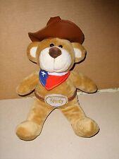COWBOY SOFT STUFFED PLUSH TEDDY BEAR COWBOY HAT BANDANA HOWDY BELT 13''