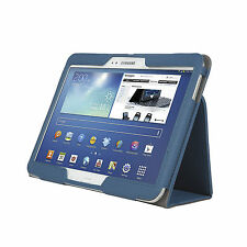 "Samsung Galaxy Tab 4 Case Cover 10.1"" T530 PU TABLET Cover Stand Folio BLUE"