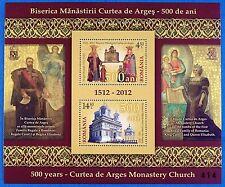Rumanía Romania 2012 convento Cujas de arges bloque 543 mnh edición 500
