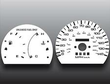 1990-1994 Mazda Protege Dash Instrument Cluster White Face Gauges