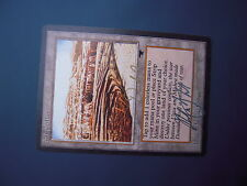 - Strip Mine - Antiquities - Double Signed Gelon and Garfield - MTG - Magic -