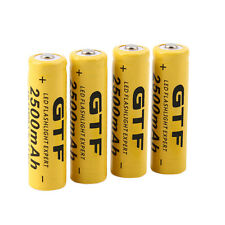 4pcs 3.7V 14500 2500mAh Li-ion Rechargeable Battery For Flashlight Torch CC