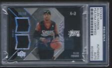 Allen Iverson Autograph Game/Used Jersey Card.2006-07 UD-BLACK  #23/99