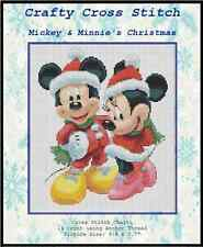 Counted Cross Stitch MICKEY and MINNIE's Christmas - COMPLETE KIT #10-23 KIT